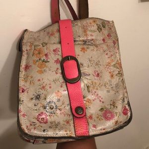Patricia Nash Purse Cross Body Leather Floral